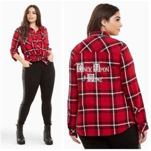Torrid | Once Upon a Time Henry Plaid Camp Shirt